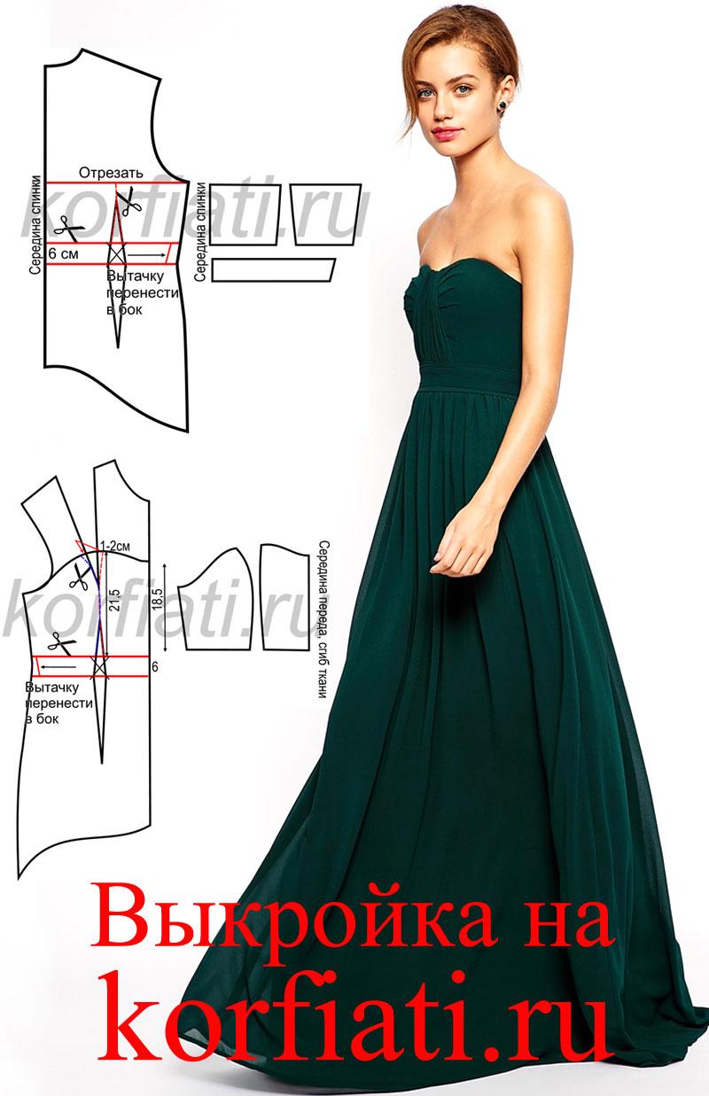 Сшить платье в пол для новичков